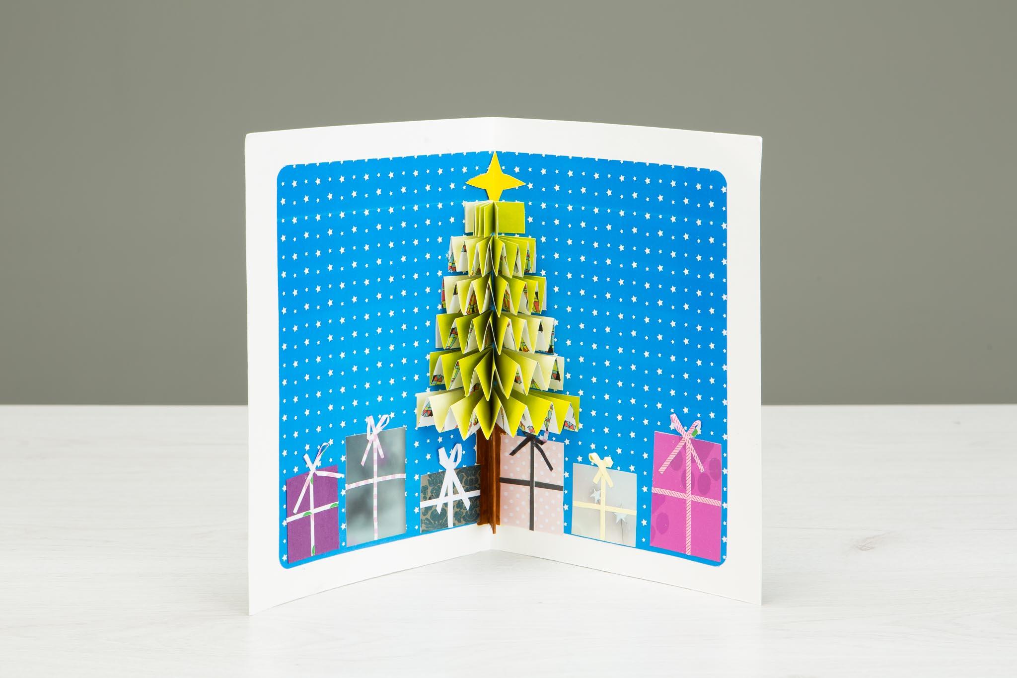 taller infantil tarjeta navidad 3d - Tarjeta De Navidad En 3d